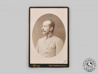 Austria-Hungary, Empire. A Photograph of Crown Prince Rudolf, c.1889