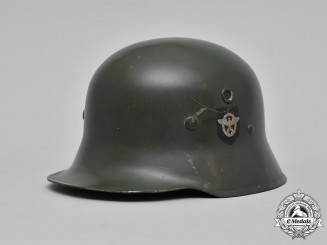 Germany, Ordnungspolizei. An Ordnungspolizei M40 Steel Helmet