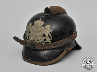 Netherlands, Kingdom. A Dutch Fire Brigade Helmet, c.1910