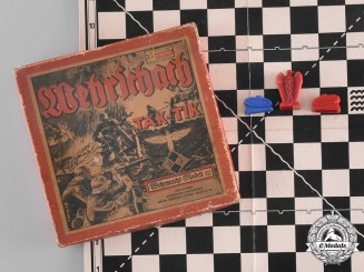 Germany, NSDAP. A Game of Battle-Chess (Tak Tik), with Game Board, Figurines, and Instructions
