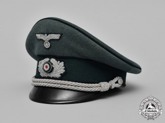 Germany. A Wehrmacht Combat Engineer Officer Visor Cap, by Peküro