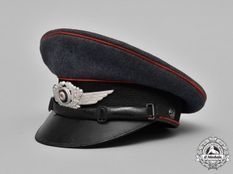 Germany. A 1937 Luftwaffe Artillery NCO's Visor Cap, by Robert Lubstein