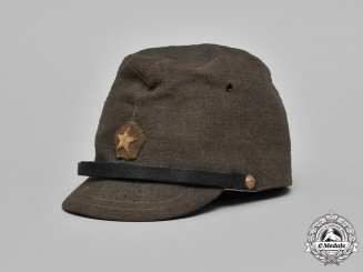 Japan, Empire. An Army Enlisted Man's Field Cap, c.1941