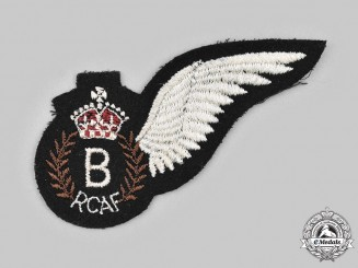 Canada, Commonwealth. A Second War Royal Canadian Air Force (RCAF) Bombardier (B) Wing