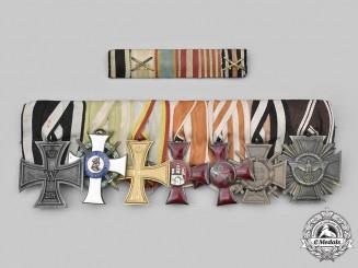 Germany, Imperial. An Albert Order & NSDAP Long Service Medal Bar