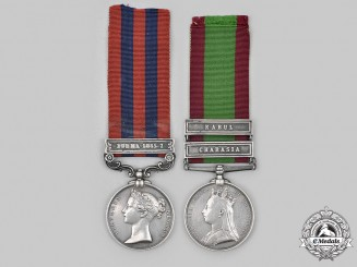 United Kingdom. An Indian General Service Medal and Afghanistan Medal to Pte. G Styles, c. 1860