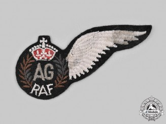 United Kingdom. A Second War Royal Air Force (RAF) Air Gunner (AG) Wing