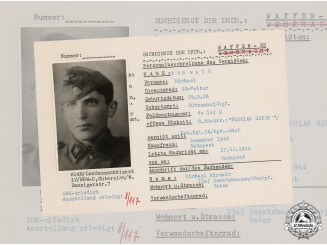 Germany, SS. A SS HIAG Tracing Service File for SS-Reiter Michael Mirwald
