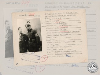 Germany, SS. A SS HIAG Tracing Service File for SS-Sturmbannführer Karl Fritsche