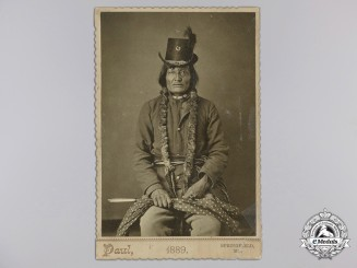 A Native American Warrior Studio Portrait, c. 1889
