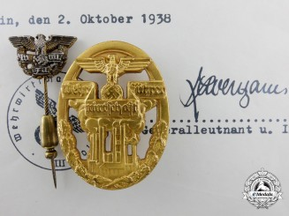 A Badge of Defense Economy Leaders with Lapel Badge & Appointment Certificate