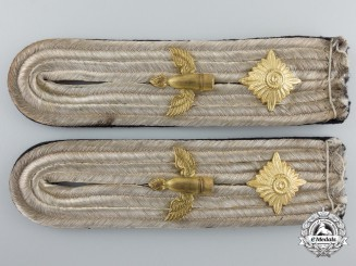 A Set of Second War Kriegsmarine Costal Artillery Oberleutnant's Shoulder Boards