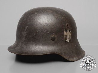 A Single-Decal Decal M42 Wehrmacht Heer (Army) Stahlhelm