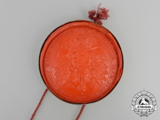 Duchy of Parma. A Wax Seal of Marie Louise, Wife of Napoleon