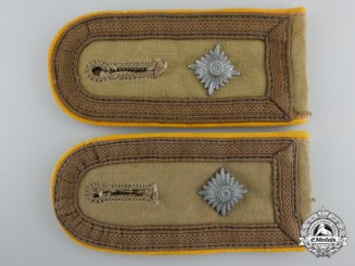 A Pair of Luftwaffe Tropical Flight/Paratrooper Feldwebel's Shoulder Straps
