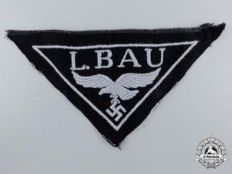 "A Luftwaffe ""L. Bau"" Construction Units Cloth Breast Eagle"