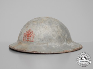 A First War Mark II Grey Canada General Service Helmet