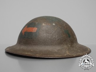 A First War Mark II 4th Canadian Machine Gun Battalion Helmet