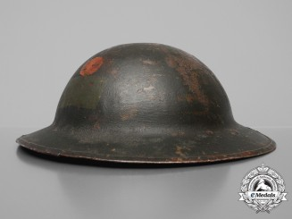 A First War Mark II 54th Battalion Helmet; Named to Chaplain & Published
