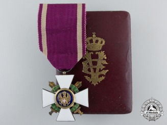 A Second War Italian Order of the Roman Eagle with Swords; Knight 1942-1943