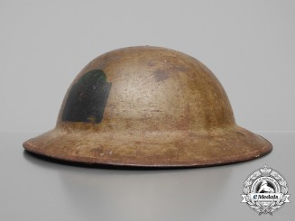 A First War Mark II 19th Canadian Infantry Battalion Helmet