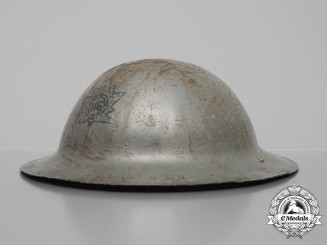 A First War Mark I CEF 116th Canadian Infantry Battalion Helmet