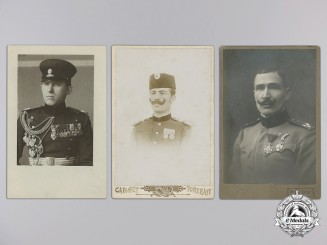 Three First War Cabinet Photos of Serbian Officers