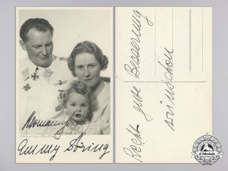 A Signed Photograph of  Hermann and Emmy Göring