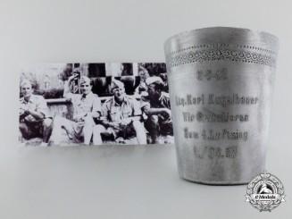 A Field-Made Congratulatory Cup to Leutnant Karl Kugelbauer; Jagdgeschwader 27