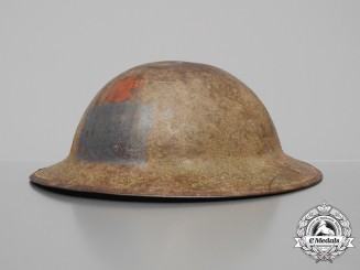 A First War 22nd Infantry Battalion (Vandoos) Helmet; Published