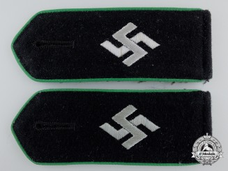An SD/Schutzmannschaften Pair of Shoulder Straps for Police Schuma Units