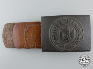 An Army Belt Buckle by Gustav Brehmer, Markneukirchen