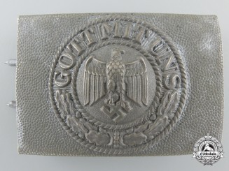 An Army Belt Buckle; Reduced Size