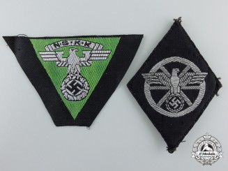 Two NSKK Cloth Insignias
