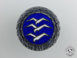 A Glider's Badge Silver Class with Silver Wreath