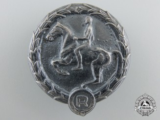 A German Young Horseman Badge in Silver