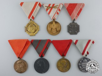Seven Austro-Hungarian Medals & Awards