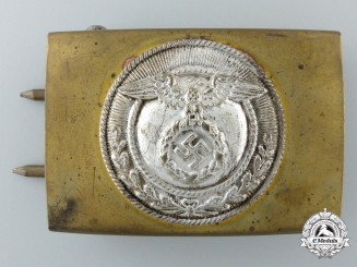 An SA Enlisted Belt Buckle; Reduced Size by Linden & Funke