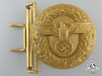 A Belt Buckle for Political Leaders of the NSDAP by Christian Theodor Dicke