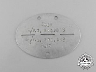A Second War German Infantry Reserve Battalion Identification Tag