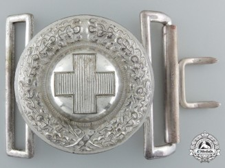 A Red Cross Officer's Buckle; 1933 Pattern
