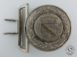 A German Province Rheinland Firefighter's Officer's Buckle