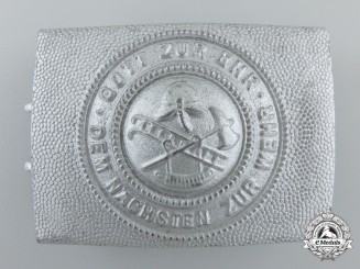 A Mint German Fire Police Buckle 1900-1934