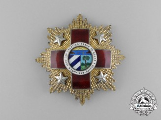 A Scarce Cuban Red Cross Order; First Class Breast Star