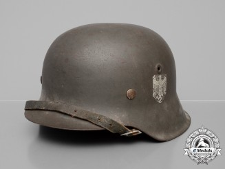 A Single Decal Wehrmacht M42 Heer Stahlhelm; Size 68
