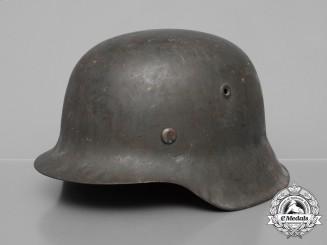 A Wehrmacht M42 Heer Stahlhelm