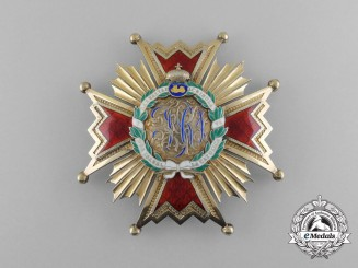 Spain. An Order of Isabella the Catholic; 1st Class Commander, c.1900
