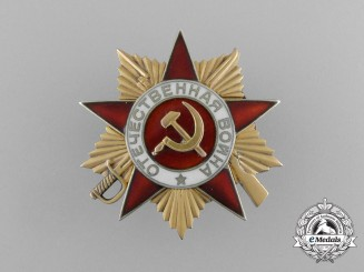 A Soviet Order of the Patriotic War; 1st Class