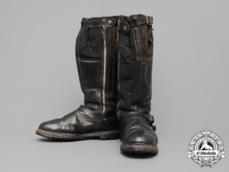 A Pair of 1944 Luftwaffe Airman's Flight Boots