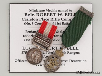 Fenian Raid Miniature Pair to Lieutenant Colonel Robert W. Bell
